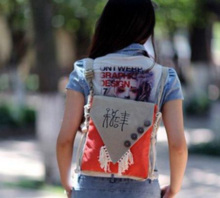 Vent Mini Rétro pour Femme Yunnan BISSER Fille Sac à de Girl Sac Bisser à Toile Femelle Sac bandoulière red National Petit Orange Dos bandoulière Sac Sac PUnXw