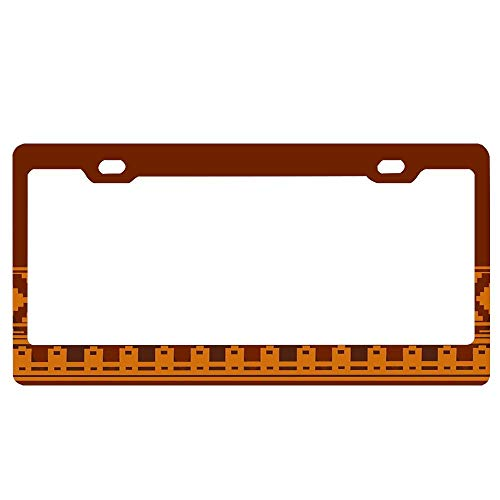 Customized Frames Journey Cloak Pattern License Plate Frame for Women/Men, Car License Plate Cover, Decorative License Tag Holder, Aluminum Metal -