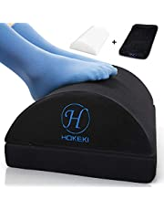 $27 » HOKEKI Upgraded Foot Rest Under Desk with Adjustable Height, Soft Yet Firm Foam Velvet Footrest Cushion, Foot Stool Rocker Pillow for Home, Office, Car, Airplane to Relieve Lumbar, Back, Knee Pain