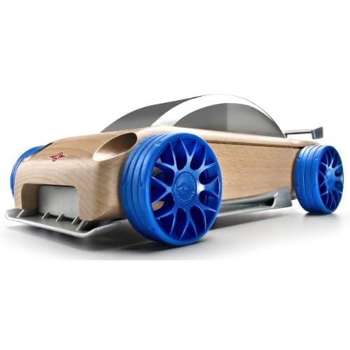 Automoblox: S9-R sport sedan (Silver/Blue)