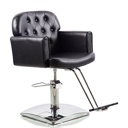 Hydraulic Styling Chair Set (Shengyu Black Hydraulic Styling Barber Chair Hair Spa Beauty Salon Equipment)