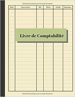 Livre De Comptabilite Grand Livre Simple Comptes De Livre