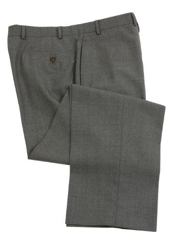 Ralph Lauren Men's Flat Front Solid Medium Gray Wool Dress Pants - Size 34 x29