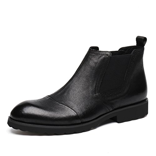 Herren Lederschuhe Herren Lederschuhe Hohe Schuhe Winter Martin Kurze Stiefel British Style Herrenschuhe ( Farbe : A , größe : EU42/UK7.5 ) B