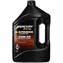 OEM Mercury Verado 4-Stroke Engine Oil SAE 25W-50 Synthetic Blend One Gallon # 8M0078014