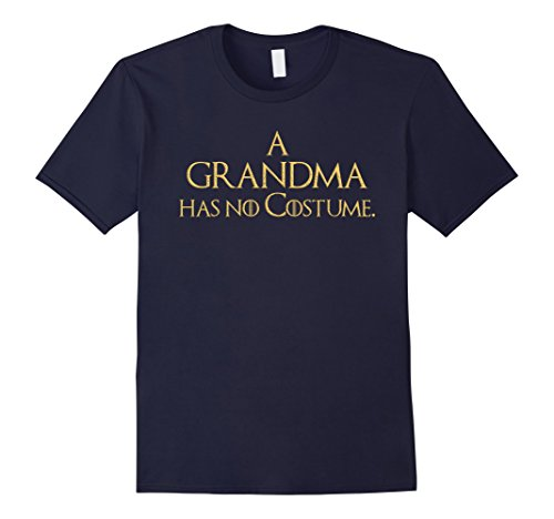 Mens Easy Last Minute Halloween Costume Shirt Grandma GoT Tee Small Navy