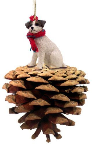 Brown-White-Jack-Russell-Terrier-wRough-Coat-Pinecone-Christmas-Ornament-by-Conversation-Concepts