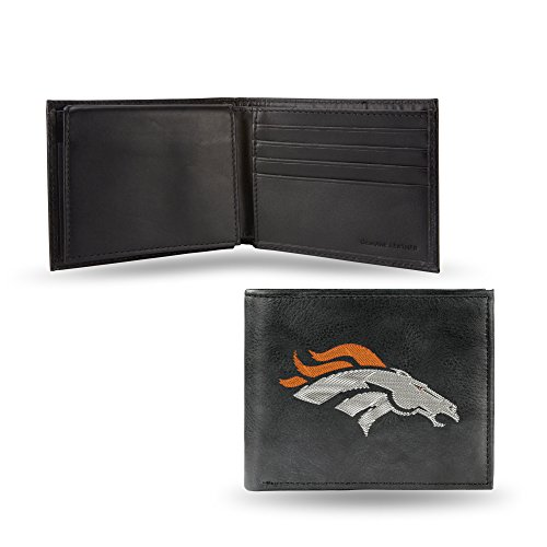 NFL Denver Broncos Embroidered Leather Billfold Wallet