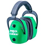 Pro Ears Pro Mag Gold - Electronic Hearing Protection & Amplification - NRR 30 - Shooting Range Ear Muffs, Neon Green