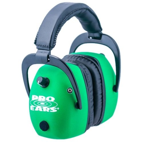 Pro Ears Pro Mag Gold - Electronic Hearing Protection & Amplification - NRR 30 - Shooting Range Ear Muffs, Neon Green by Pro Ears