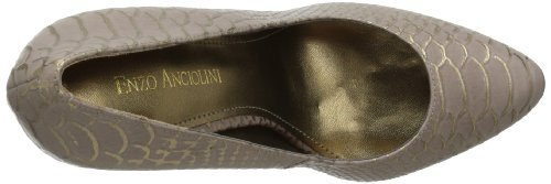 Enzo Angiolini Womens Arlee3 Plate-forme Pompe En Cuir Taupe