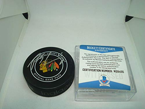 Signed Patrick Sharp Puck - Official Beckett COA 1A - Beckett Authentication - Autographed NHL Pucks (Patrick Sharp Puck)