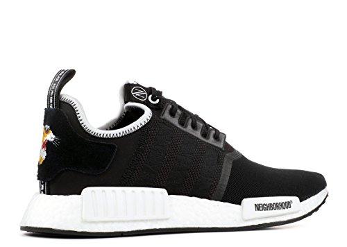 Adidas Man Nmd R1 Oövervinnliga X Grannskap Svart / Vit Mesh