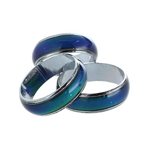 TOOGOO(R) Mood Feeling Mood Ring Color Changeable US Size 6.5 and US Size 7 1/2 and Size US 5