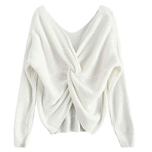 V Col Pull Profond Femme Sexy Wanfor Torsad Chandail Pull tX1wvn1ZY