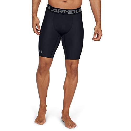 Under Armour Men's HeatGear Armour 2.0 Long Shorts, Black (001)/Graphite, XX-Large