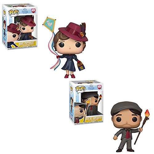 Funko POP! Disneys Mary Poppins Returns: Mary Poppins with Kite and Jack The Lamplighter Toy Action Figure - 2 POP Bundle