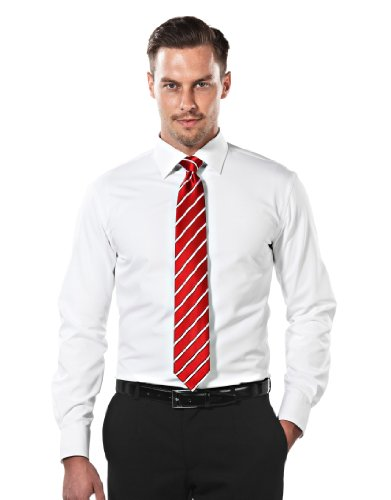"""VB Shirt, slim-fit, white - non-iron,43/44 cm - 17.50"""""""