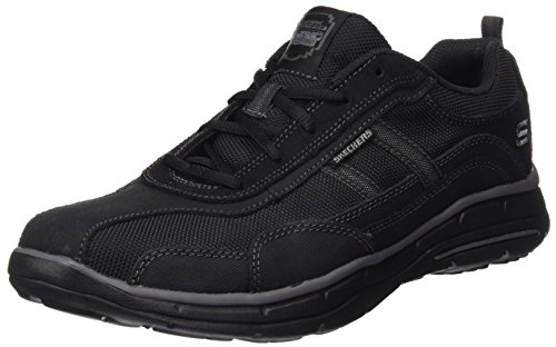 Skechers Relaxed Fit Glides Ellison Mens Sneaker Oxfords Black 8.5