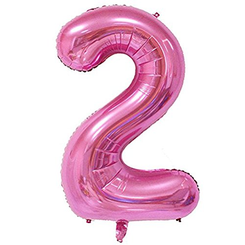 Tellpet Pink Number 2 Balloon, 40 Inch -