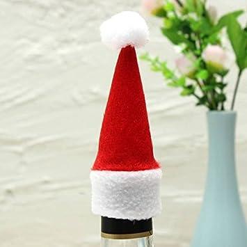 PhilMat Mini botella de vino casquillo 10pcs navidad botella decorada de Navidad sombreros: Amazon.es: Hogar