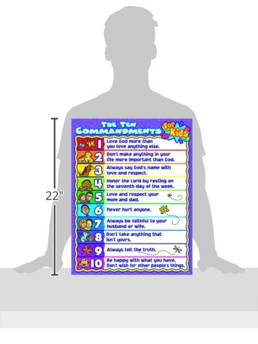 Carson-Dellosa Christian The Ten Commandments for Kids Chart (6359) by Carson-Dellosa (Image #1)