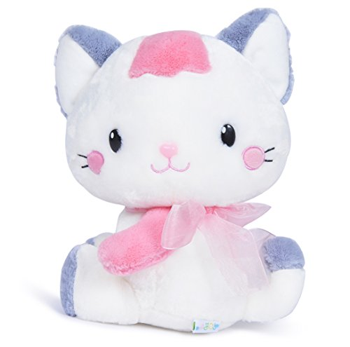 USATDD Cat Plush Stuffed Animal Toy Bedtime Soft Doll Lovely Cats Pink 9.8