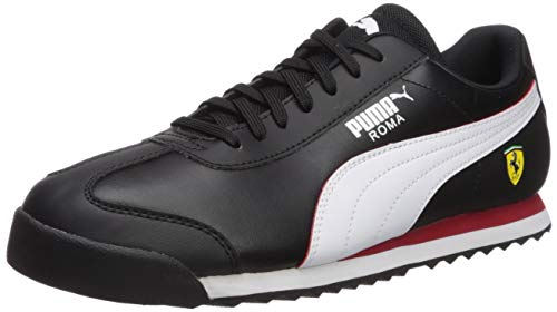 PUMA Men's Ferrari Roma Sneaker, Black White-Rosso Corsa, 8 M US (Sneakers Ferrari Puma)