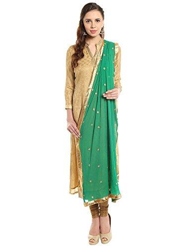 - Dupatta Bazaar Woman's Embroidered Green Chiffon Dupatta Scarf Shawl Wrap Soft (Pale Green)