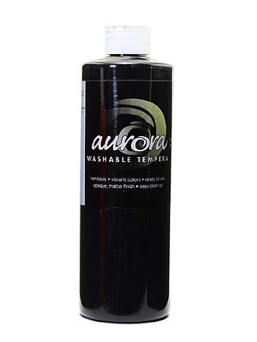 Chroma Inc. Aurora Washable Tempera black [PACK OF 4 ]