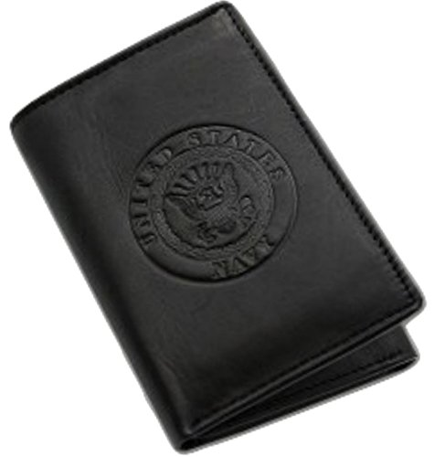 US Navy Trifold Wallet (Black) - Gift Boxed Wallet