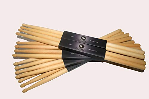 - Scout Products 5A Drumsticks, 8 Pairs, Maple