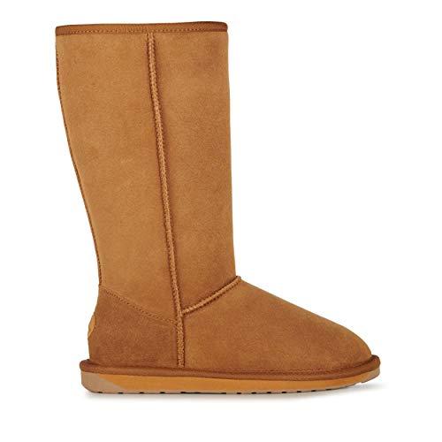 EMU Australia Womens Stinger Hi Winter Real Sheepskin Boots Size 7 (Stinger Boot Hi)