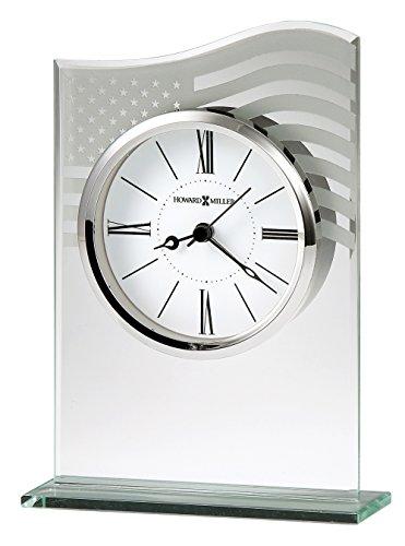 Howard Miller 645779 645-779 Liberty Table Clock (Dial Flag Bezel)