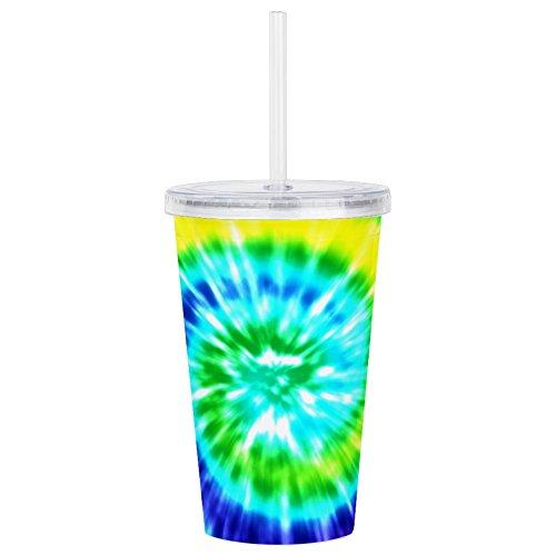 (CafePress - Rainbow Tie Dye - Insulated Straw Cup, 20oz Acrylic Double-Wall Tumbler)