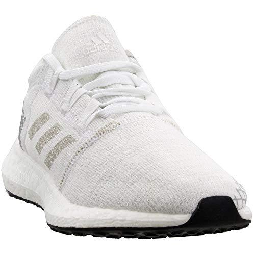 adidas Pureboost Element Shoe - Junior's Running 4.5 White/Grey/Black (Best Junior Running Shoes)