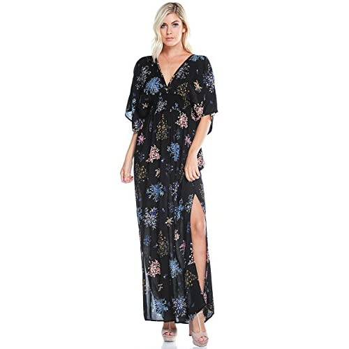 a099e824c8e delicate Love Stitch Women s Lovely Summertime Floral Print Maxi Dress