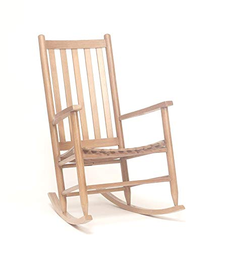 Dixie Seating Asheville Wood Adult Rocking Chair No. 95SRTA Unfinished