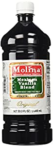Mexican Vanilla Blend By Molina Vainilla, 33.3 Oz / 1000 Ml (Vanillin Extract)