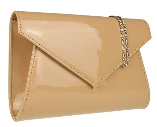 Plain Nude Bag HandBags Girly Glossy Clutch HandBags Girly nca8qWWR