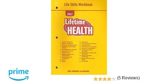 Lifetime Health: Life Skills Workbook: RINEHART AND WINSTON HOLT ...