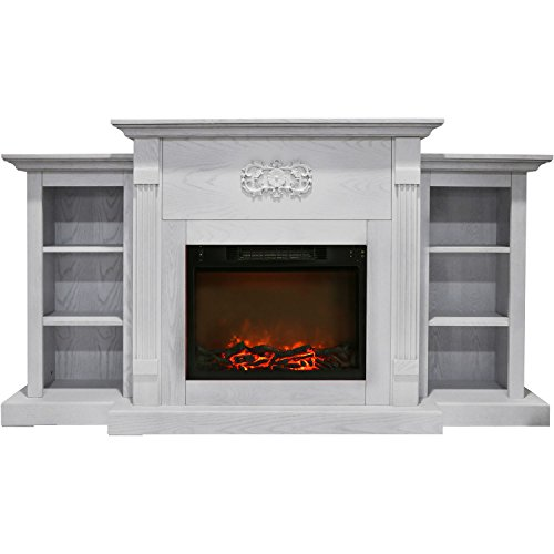 Cambridge CAM7233-1WHT Sanoma 72 In. Electric Fireplace in W
