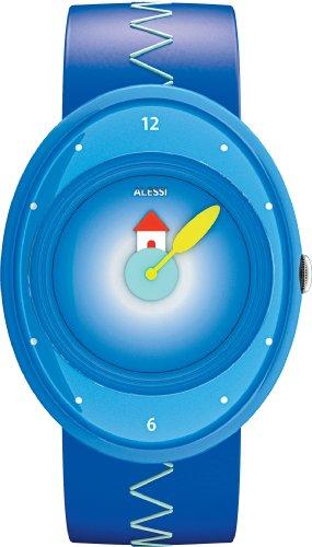 Price comparison product image Alessi Kids' AL20000 Millennium Jr. Blue Strap with House Watch