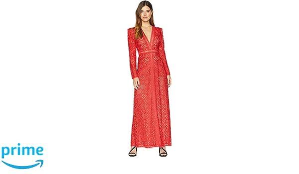 a9c538f08f4 Amazon.com  BCBGMAXAZRIA Women s Mosaic Lace Maxi Dress Red Medium ...