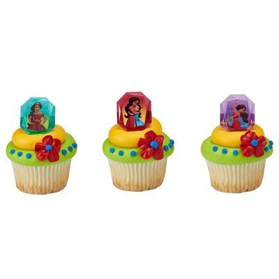 Disney's Elena of Avalor Noble Heart Licenced Cupcake Rings 24 Count