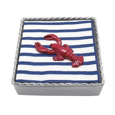 Mariposa Lobster Twist Napkin Box, Red by - Mariposa Lobster