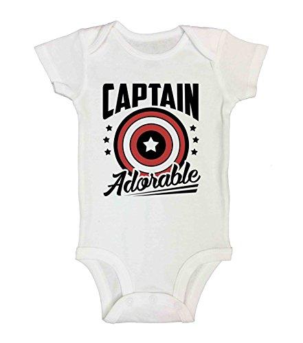 captain america baby onesie - 4