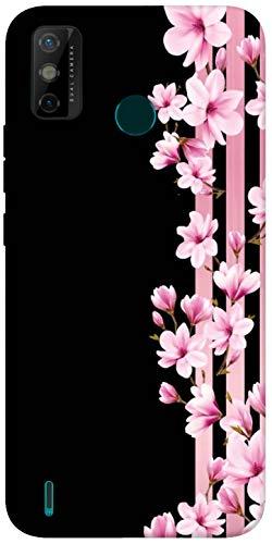 Sharpeseller Pink Flowers Printed Soft Designer Mobile Back Cover For Tecno Spark Go 2020 – Multi-Coloured; Pink