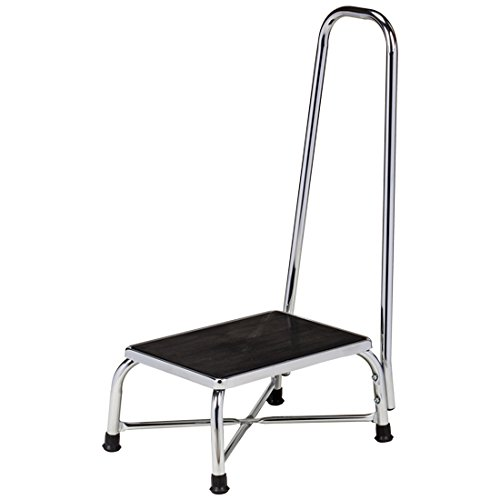 Clinton Large Top Bariatric Step Stool with Handrail by Clinton
