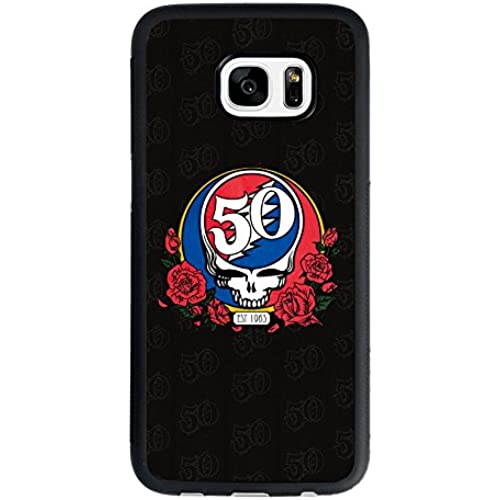 Grateful Dead Samsung Galaxy S7 Case, Grateful Dead 50th Anniversy Classic Skull and Roses Logo TPU Case Sales